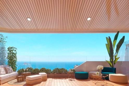 przepiękny widok roztaczający z ekskluzywnego apartamentu do sprzedaży Hiszpania
