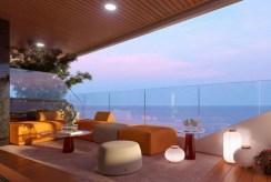imponujący rozmachem taras przy ekskluzywnym apartamencie na sprzedaż Hiszpania