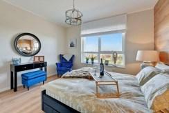 zaciszna sypialnia w ekskluzywnym apartamencie do sprzedaży Gdańsk