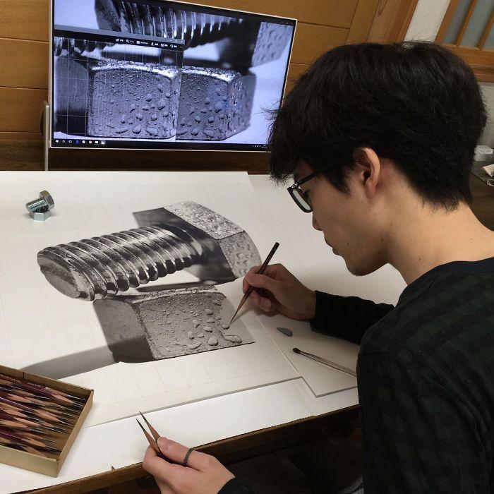 Luar Biasa Pencil Drawing Ini Terlihat Seperti Foto Jepretan Kamera