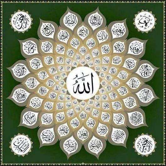 Gambar Kaligrafi 99 Asmaul Husna Beserta Artinya Cikimmcom