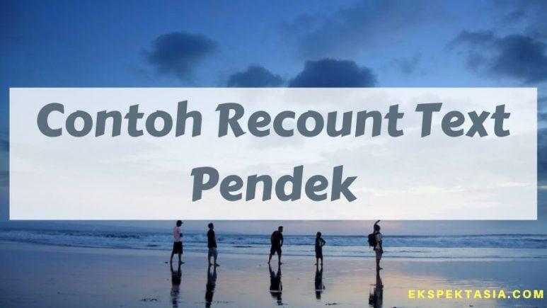 Contoh Recount Text Pendek pantai