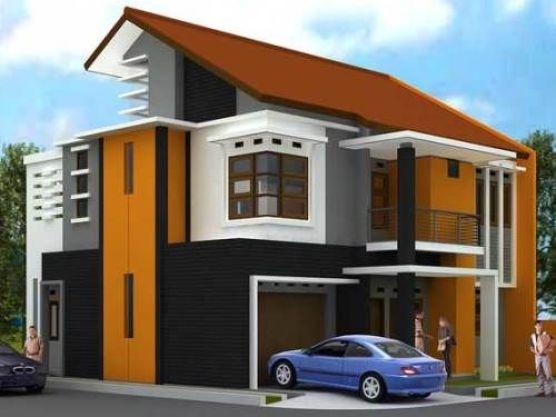 Warna Cat Dinding Luar Rumah minimalis