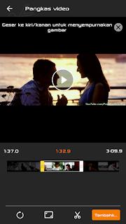cara memotong video di android dengan viva video