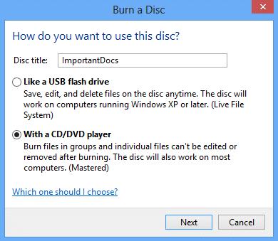 cara burning cd dvd di windows 8