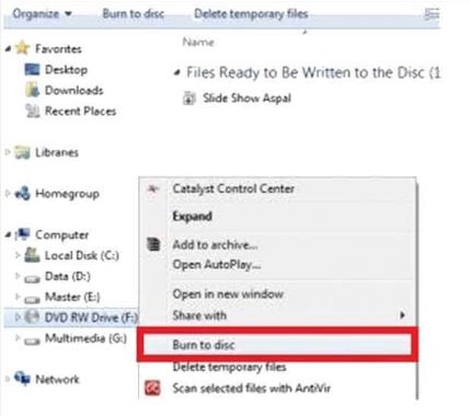 burning cd dvd windows 7