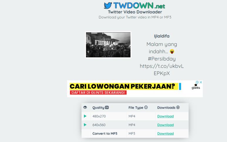 download video di twitter tanpa aplikasi