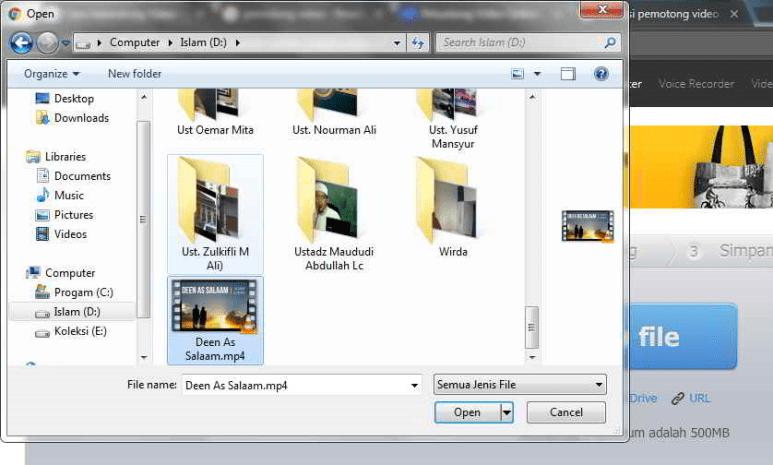 cara memotong video online