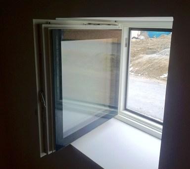 Ekstrands steps fönster insida