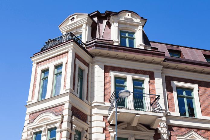 Ekstrands kulturfönster på gammal arkitektur