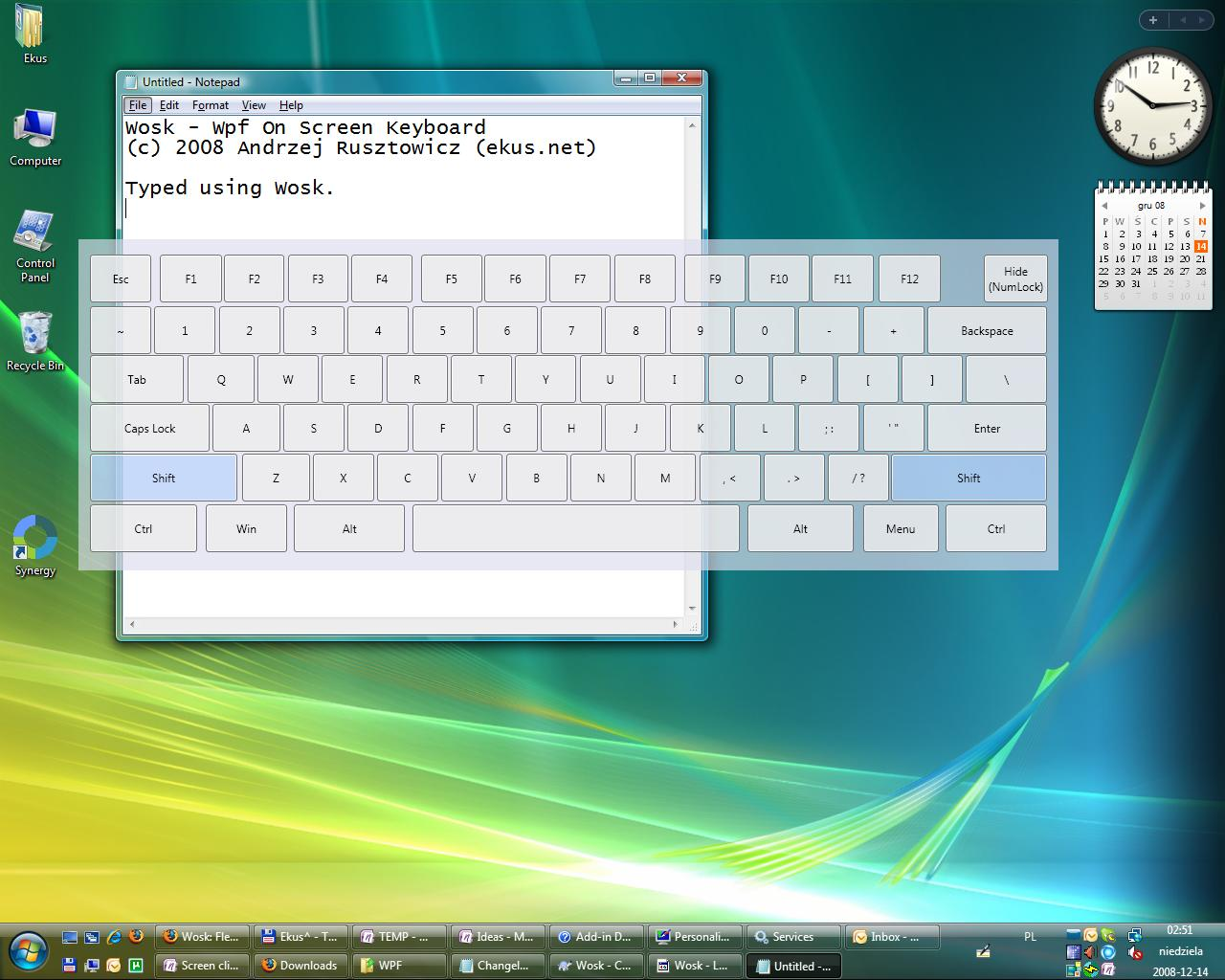 Wosk - Wpf On Screen Keyboard