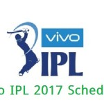 Vivo IPL 2017 Schedule, Time Table With Team, Date, Time And Venue .