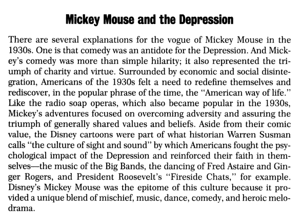 mickey mouse and depression