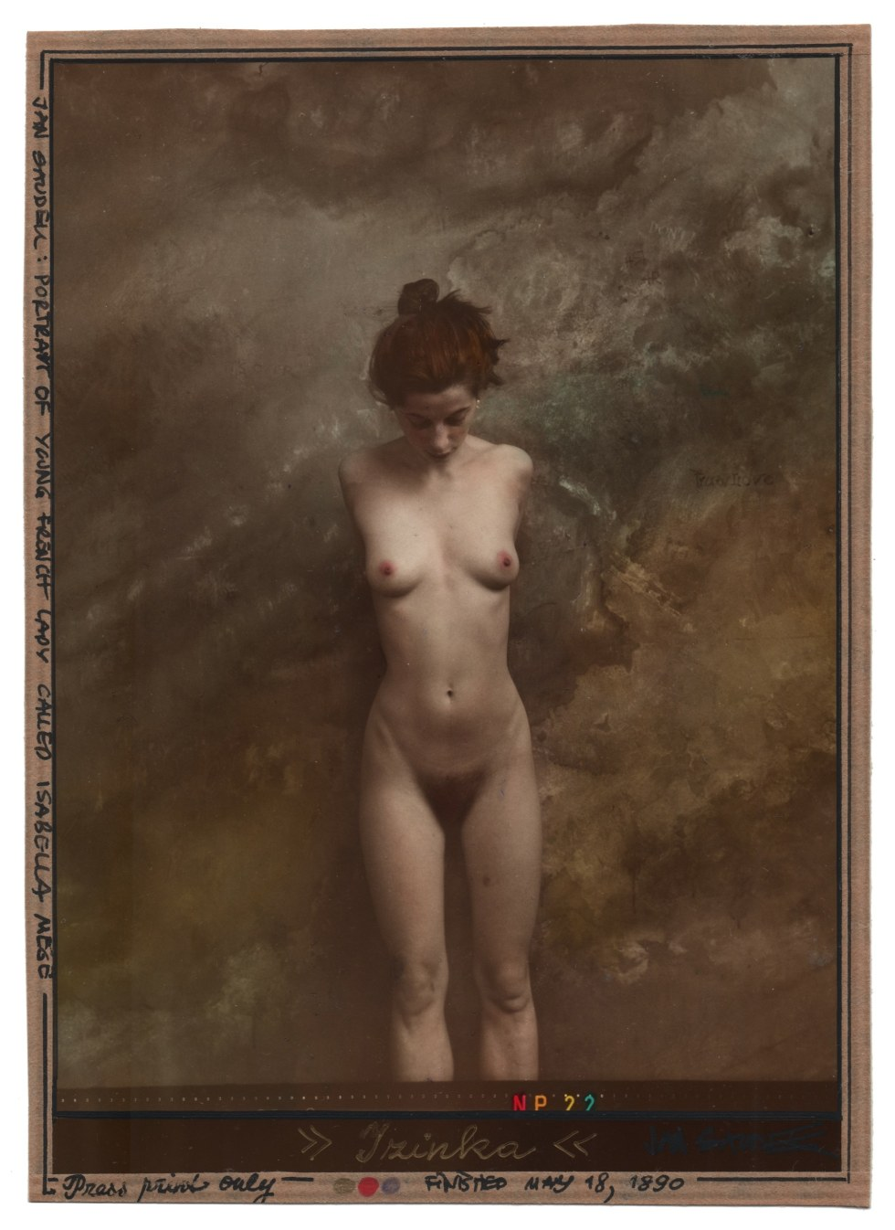 Isabelle Mège por Jan Saudek