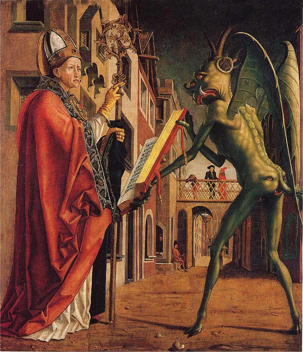 Michael_Pacher_Teofilo y el diablo