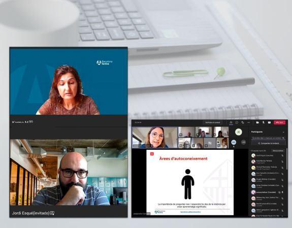 Captura de pantalla d'una formació en eines d'autoconeixement en el marc del programa Accions a Mida