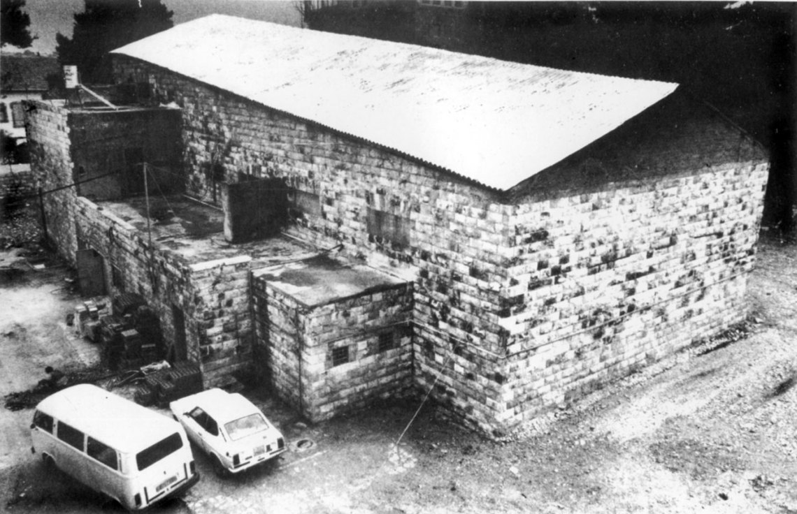 The first picture of the cinema building before the start of work in the month of 11-1983