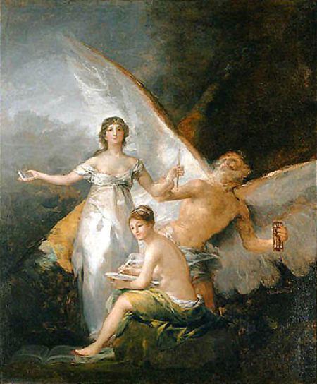 """""""Alegoría de la adopción de la Constitución de 1812"""", Goya"""