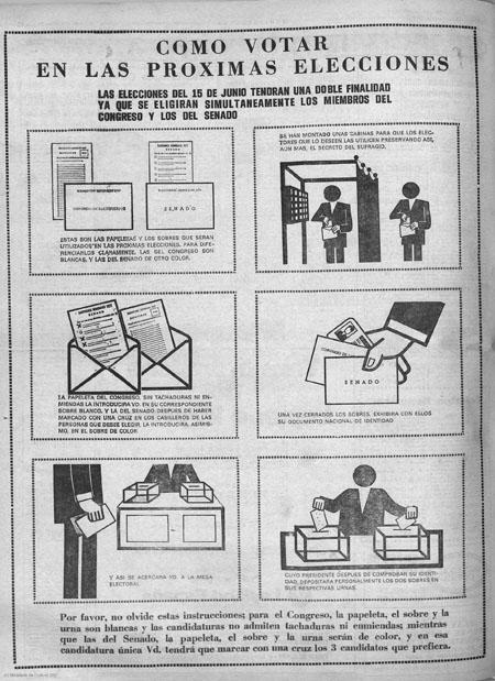 Extracto de periódico de la época