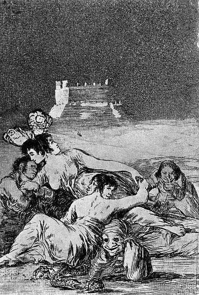 """""""El sueño de la mentira y la inconstancia"""", Francisco de Goya y Lucientes"""