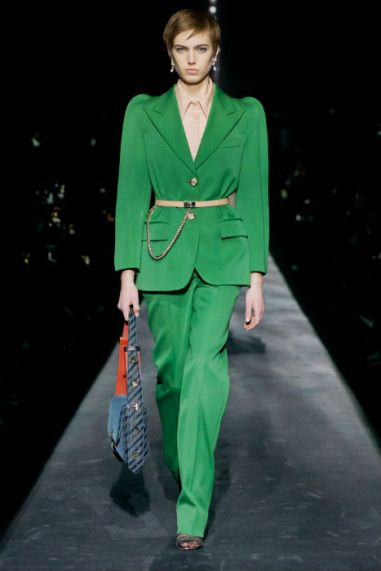 Givenchy-aw19-fw19-green-suits-round-shoulders-