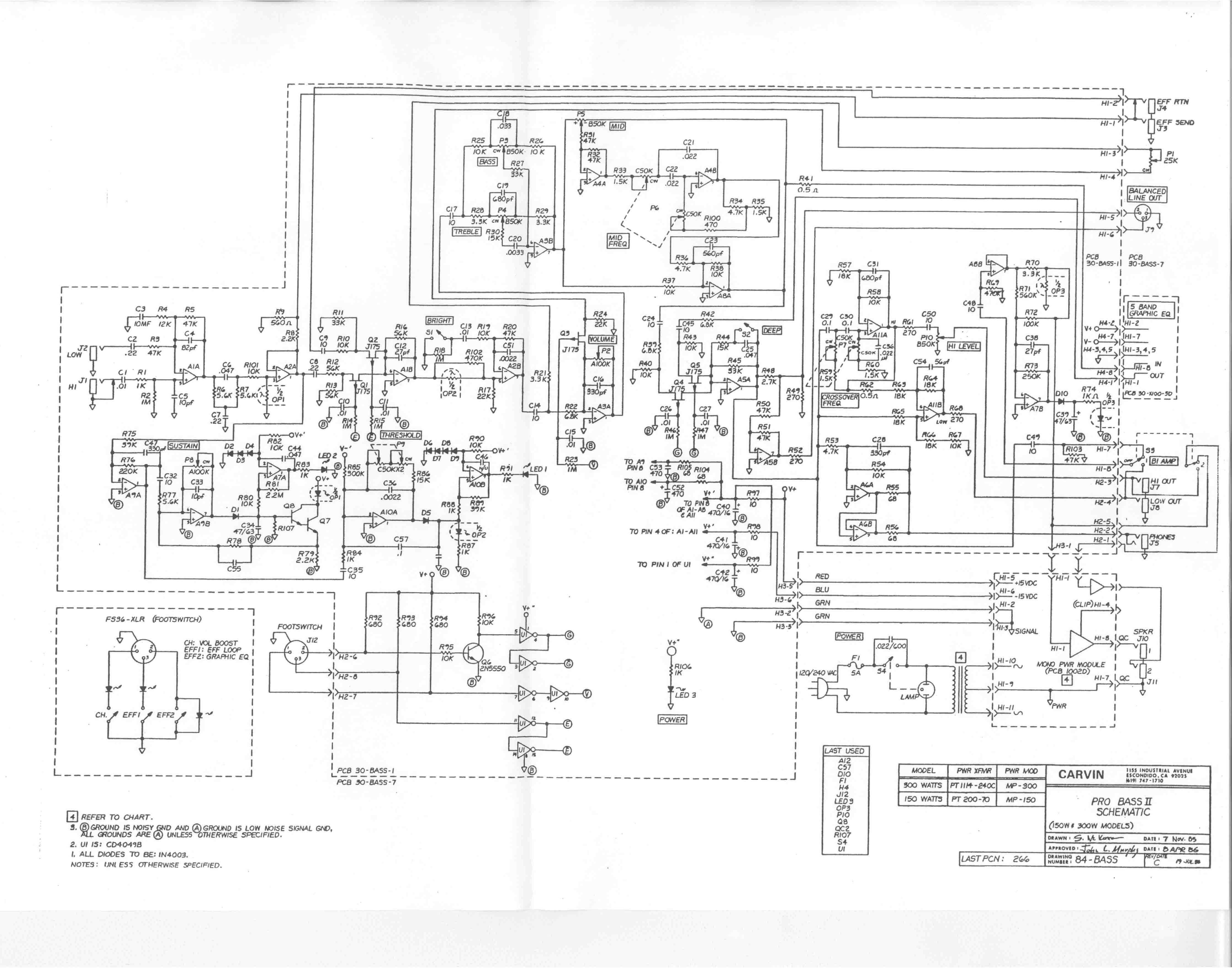 Carvin Schematics