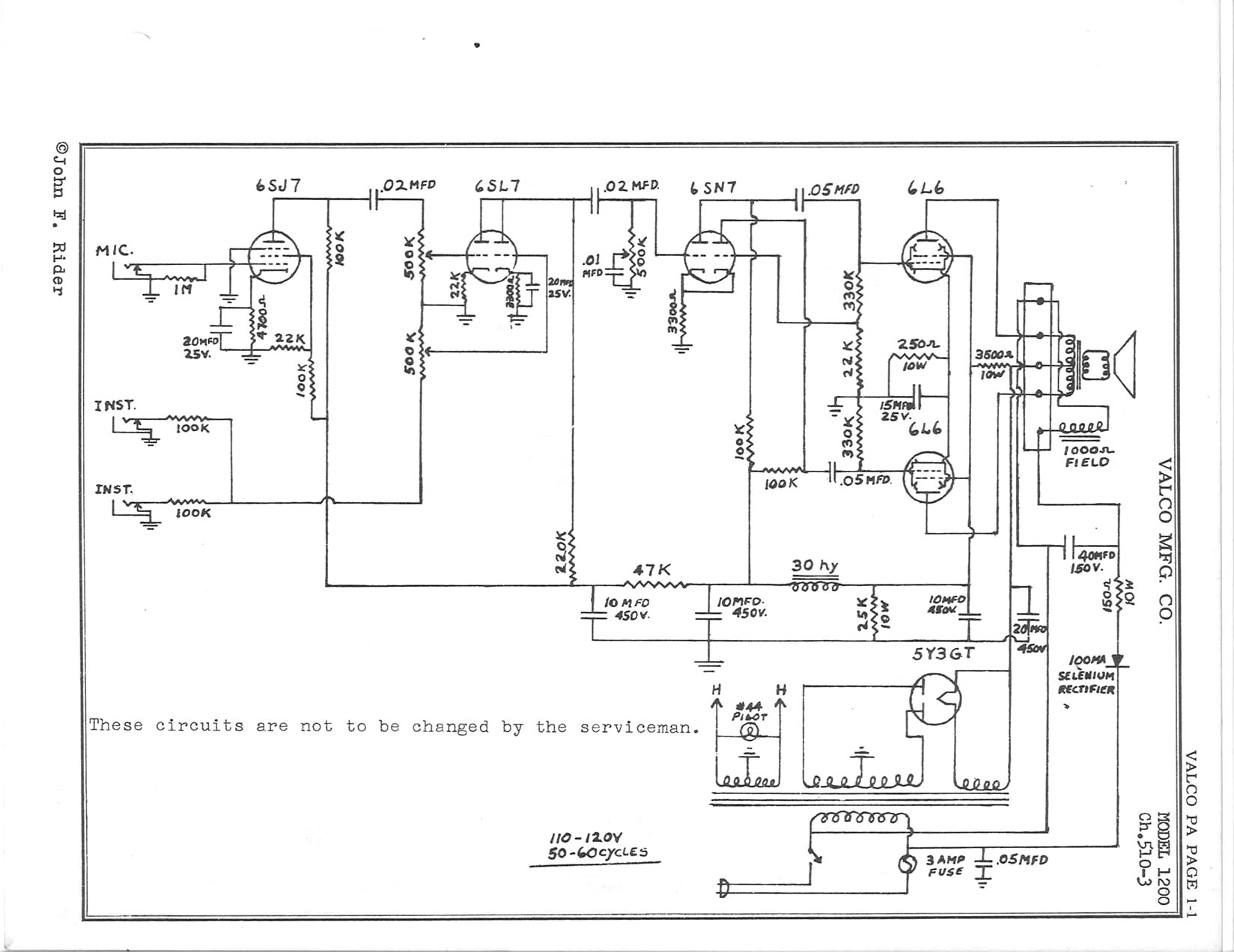 K B Amplifier Schematic
