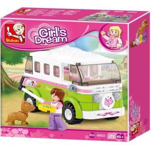 SLUBAN Τουβλάκια Girls Dream, Camper M38-B0523, 158τμχ | Παιχνίδια | elabstore.gr
