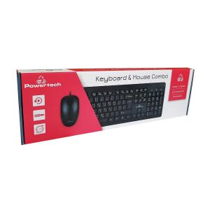 POWERTECH set ποντίκι & πληκτρολόγιο PT-678, ενσύρματο, 1200dpi, μαύρο | Συνοδευτικά PC | elabstore.gr