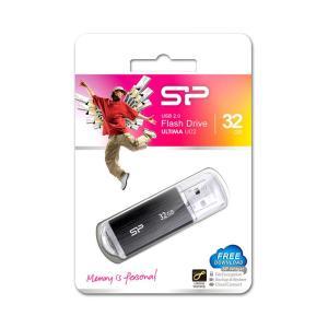 SILICON POWER USB Flash Drive Ultima U02, 32GB, USB 2.0, μαύρο   Συνοδευτικά PC   elabstore.gr