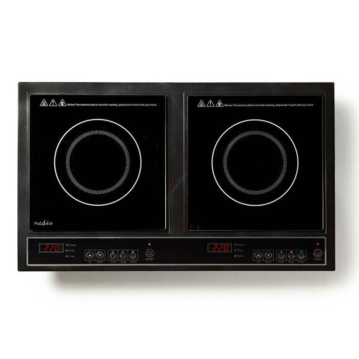 NEDIS KAIP112CBK2 Double Induction Cooker, 3400 W   ΜΙΚΡΟΣΥΣΚΕΥΕΣ / ΕΠΟΧΙΑΚΑ / ΛΕΥΚΕΣ ΣΥΣΚΕΥΕΣ   elabstore.gr