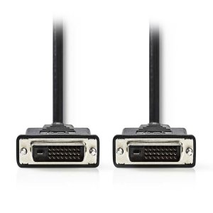 NEDIS CCGP32000BK30 DVI Cable, DVI-D 24+1-Pin Male - DVI-D 24+1-Pin Male, 3.0 m, | ΚΑΛΩΔΙΑ / ADAPTORS | elabstore.gr