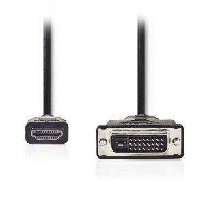 NEDIS CCGP34800BK100 HDMI - DVI Cable, HDMI Connector - DVI-D 24+1-Pin Male, 10m | ΚΑΛΩΔΙΑ / ADAPTORS | elabstore.gr