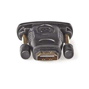NEDIS CVGP34912BK HDMI - DVI Adapter, DVI-D 24+1-pin male - HDMI Female, Black | ΚΑΛΩΔΙΑ / ADAPTORS | elabstore.gr
