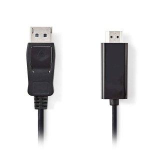 NEDIS CCGP37100BK10 DisplayPort-HDMI Cable DisplayPort Male-HDMI Connector,1.0 m | ΚΑΛΩΔΙΑ / ADAPTORS | elabstore.gr
