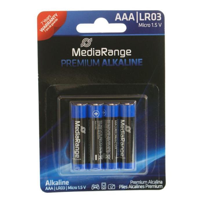 MEDIARANGE Premium Αλκαλικές μπαταρίες AAA LR03, 4τμχ   Μπαταρίες   elabstore.gr