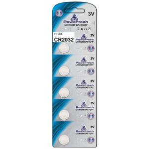 POWERTECH Μπαταρία λιθίου CR2032, 3V, 5τμχ | Μπαταρίες | elabstore.gr
