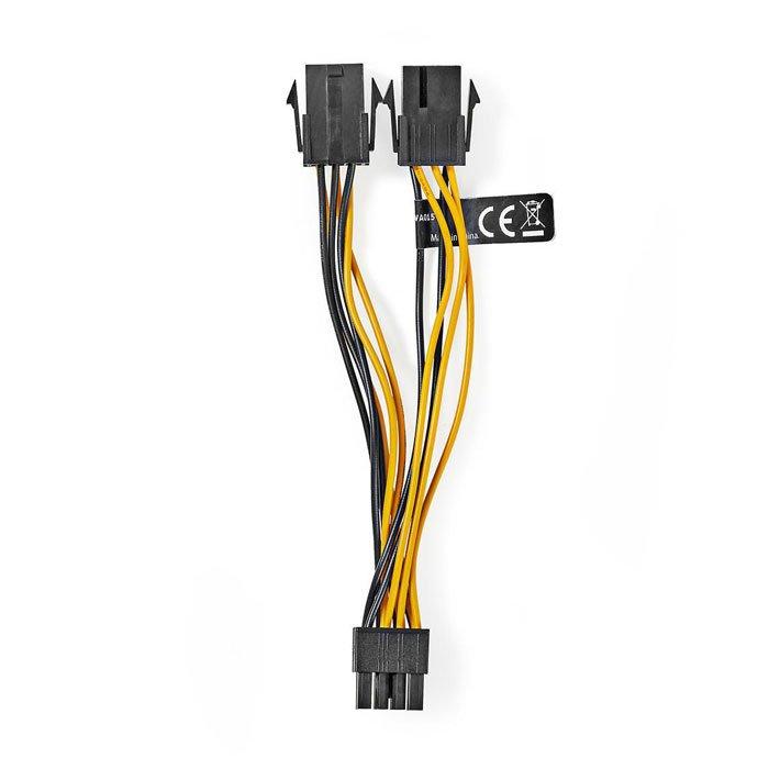 NEDIS CCGP74415VA015 Internal Power Cable EPS 8-pin Male-2x PCI Express Female 0 | ΚΑΛΩΔΙΑ / ADAPTORS | elabstore.gr