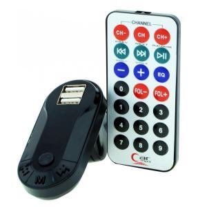 Car FM Transmitter T26 με LCD οθόνη, USB, SD, μαύρο | Εικόνα & Ήχος | elabstore.gr