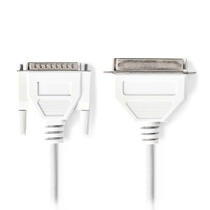 NEDIS CCGP52200IV20 Printer Cable D-Sub 25-pin Male - Centronics 36-pin Male 2.0   ΚΑΛΩΔΙΑ / ADAPTORS   elabstore.gr