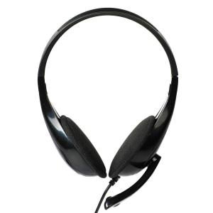 POWERTECH Headphones με μικρόφωνο PT-734 105dB, 40mm, 3.5mm, 1.8m, μαύρο   Συνοδευτικά PC   elabstore.gr