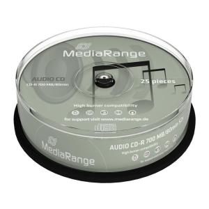 MEDIARANGE AUDIO CD-R 80 min, 700MB, 12x, 25τμχ Cake box | Αναλώσιμα - Είδη Γραφείου | elabstore.gr