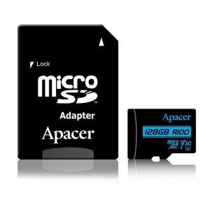 Memory Card Micro SDXC UHS-I U3 Class10 128GB Apacer V30 R100 | MEMORY CARDS | elabstore.gr