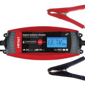 AMIO Ψηφιακός φορτιστής μπαταριών οχημάτων 02088, 6V/12V, 2A/4A   Gadgets   elabstore.gr