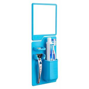Σετ καθρέπτης και θήκη οδοντόβουρτσας από σιλικόνη TMV-0002, μπλε | Οικιακές & Προσωπικές Συσκευές | elabstore.gr