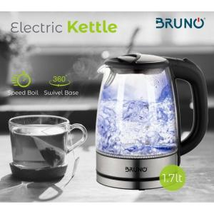 BRUNO Ηλεκτρικός βραστήρας BRN-0026, 2200w, 1.7lt, βάση 360°, LED   Οικιακές & Προσωπικές Συσκευές   elabstore.gr