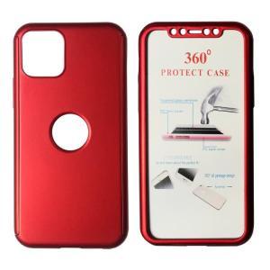 POWERTECH Θήκη Body 360° με Tempered Glass, iPhone 11 Pro Max, κόκκινη   Αξεσουάρ κινητών   elabstore.gr