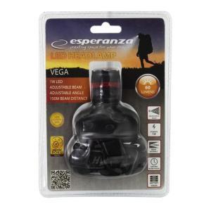 ESPERANZA φακός κεφαλής Vega EOT002, 1W, 60 lumens, μαύρος | Φωτισμός | elabstore.gr