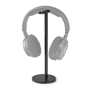 NEDIS HPST200BK Headphones Stand Aluminium Design 98 x 276mm Black   ΠΕΡΙΦΕΡΕΙΑΚΑ Η/Υ & LAPTOP   elabstore.gr