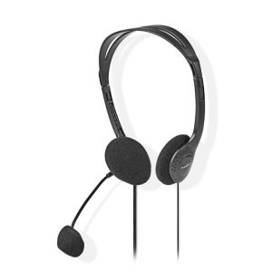 NEDIS CHST100BK PC Headset On-Ear 2x 3.5 mm Connectors 2.0 m Black   ΠΕΡΙΦΕΡΕΙΑΚΑ Η/Υ & LAPTOP   elabstore.gr